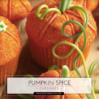 Pumpkin Spice Cupcakes with Cream Cheese Frosting.