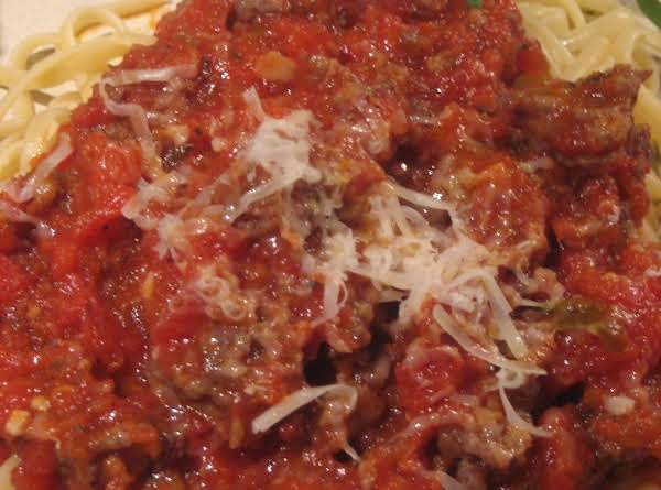Saucy Meatballs With Pasta (although This Pic Does Not Show The Sauce With Meatballs But With Loose Meat Instead!)  Oops!