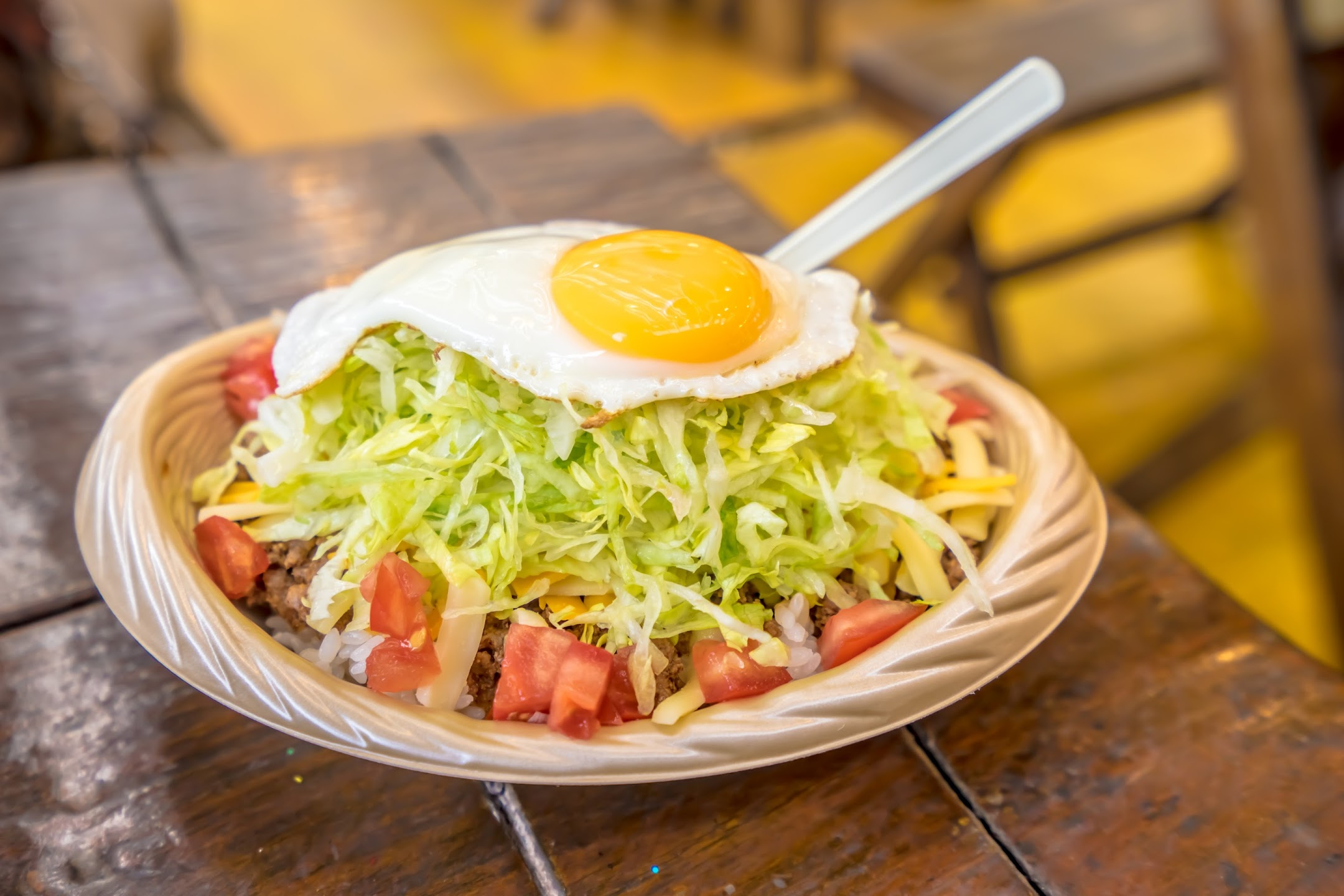 Okinawa American Village taco rice