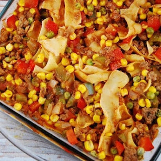 Ground Beef and Noodle Casserole Recipe