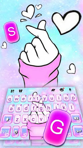 لقطات شاشة ثيم لوحة المفاتيح Pastel Love 2