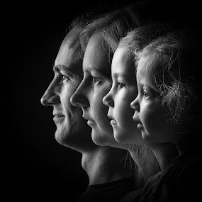 Family by Louis Heylen - Black & White Portraits & People