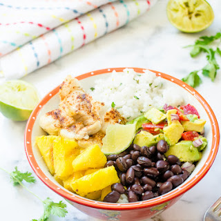 Fish Taco Bowls with Cilantro Lime Rice and Grilled Pineapple Recipe