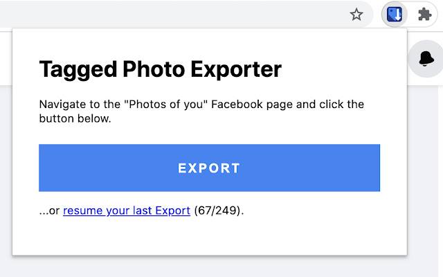 Tagged Photo Exporter for Facebook
