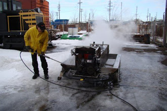 Photo: Steve steam cleaning the CBL chassis.