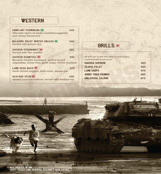 38 Barracks menu 24