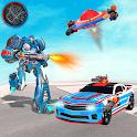 Flying Police Robot Car Transform Wars Spaceship icon