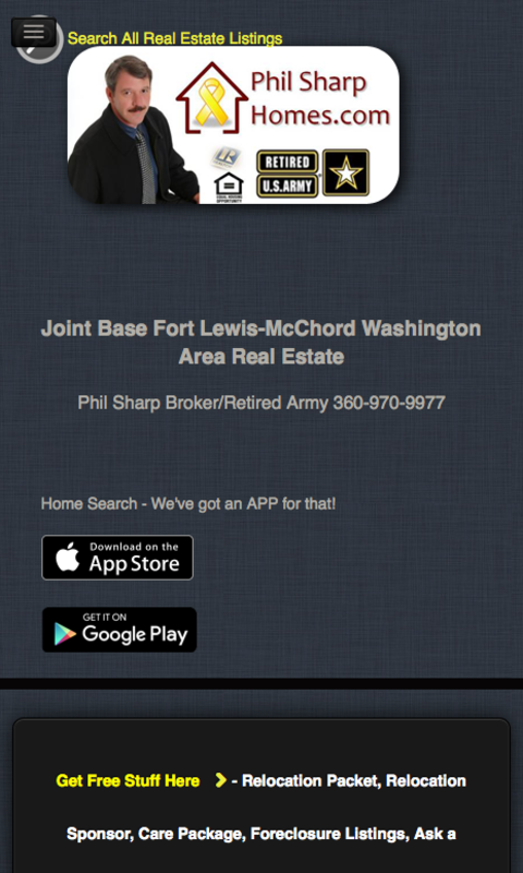 JBLM Real Estate- screenshot