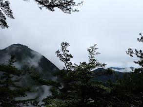 左から2283mピーク、清水岳、ケンズリ、餓鬼岳など