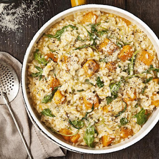 Butternut Squash and Arugula Risotto