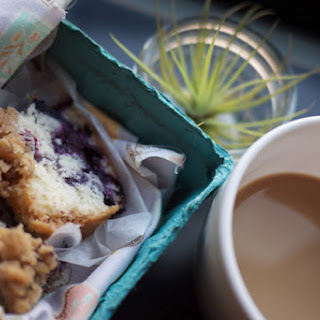 Excellent Blueberry Coffee Cake.