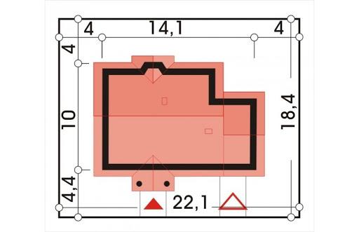 Angela wersja D z pojedynczym garażem z prawej - Sytuacja