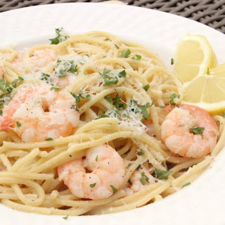 Lemon Garlic Shrimp Scampi.