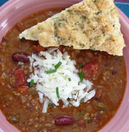 "Chili ""This is a really great full-flavored chili. Without too much spice, the..."