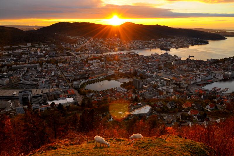 Il cielo sopra Bergen, Norvegia di angy17