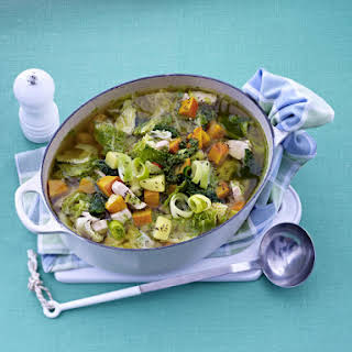 Chicken and Butternut Squash Stew With Parsley Pesto.