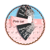 Pink cat GO Keyboard