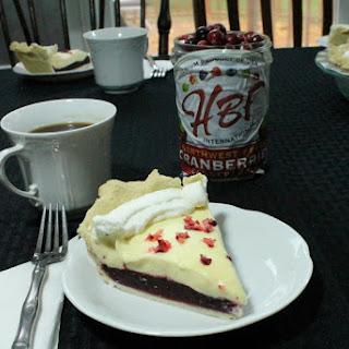 White Chocolate Cranberry Pie