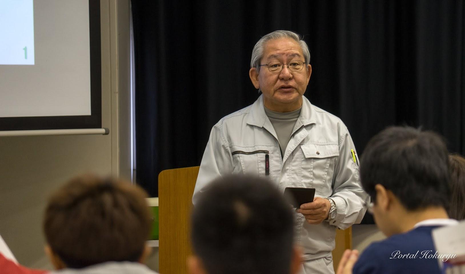 農学ビシネス学科長・岡崎正昭 教授