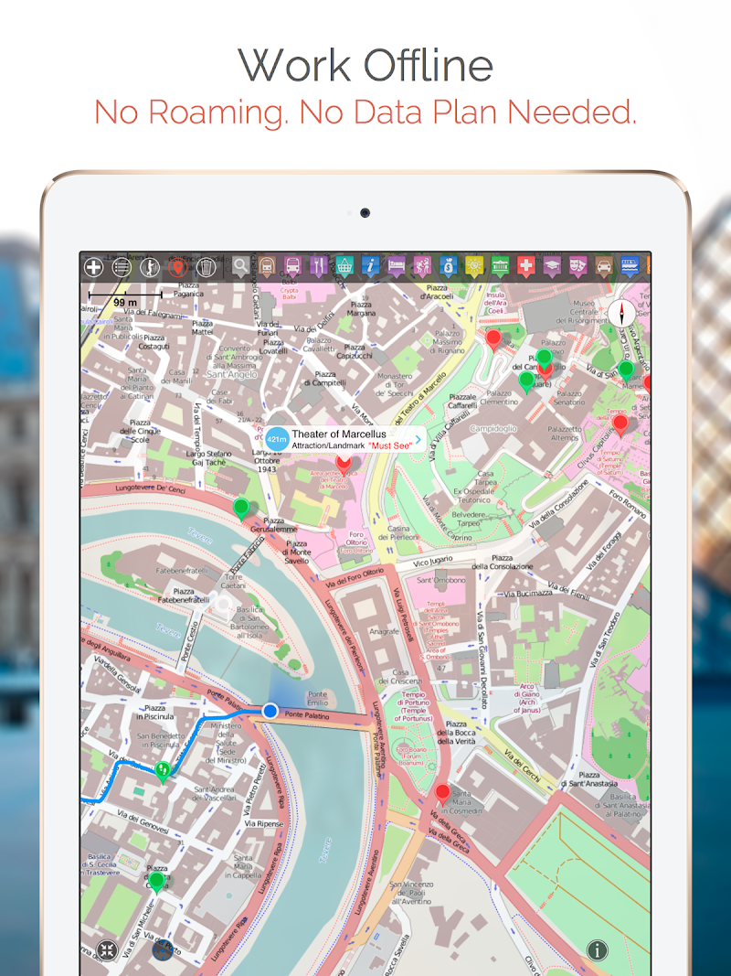 Скриншот Chisinau Map/Walk (test app)