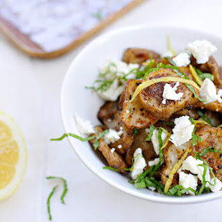 Masala Roasted Sunchokes with Feta, Mint & Lemon