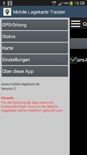 Mobile-Lagekarte Tracker - náhled
