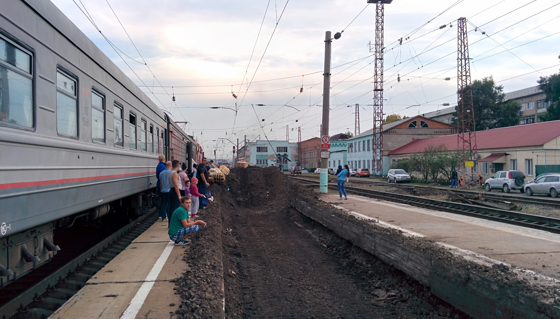 Railroad work in progress at the Ussuriysk Station