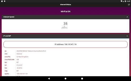 Internet Speed Test Lite Screenshot