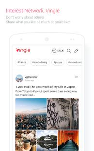 Vingle, Interest Network. - náhled