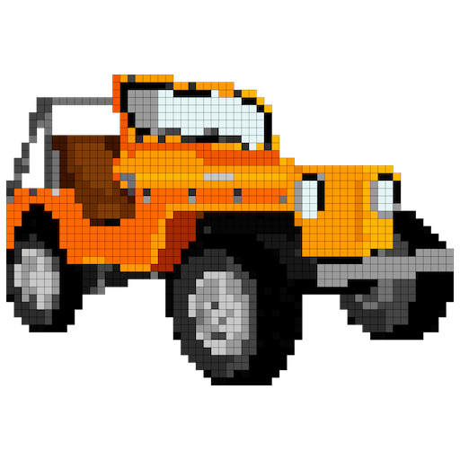 Vehicles Color by Number: Cars,Planes,Bikes,Trains Icon