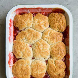 Strawberry Rhubarb Cobbler.