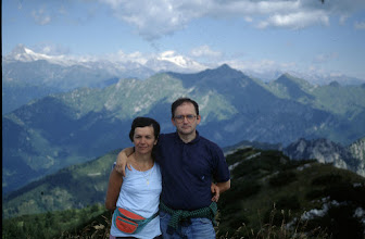 Photo: Agosto 1994: di nuovo sulla cima del Monte Tremalzo con lo sfondo del Caré Alto