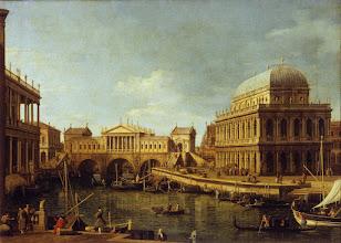 """Photo: Canaletto, """"Capriccio con edifici palladiani"""" (1756-1759)"""