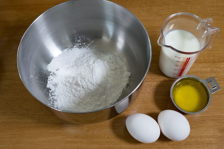 黒千石レシピ:北瑞穂のミルクレープ・材料