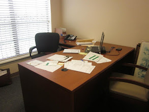 Photo: This desk is a work in progress. Visit www.504Experts to find out how Mercantile Capital Corporation can help you with your commercial real estate financing needs!