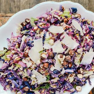 Roasted Cabbage Slaw with Hazelnuts & Lemon Recipe