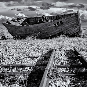 End of the line by David Feuerhelm - Black & White Landscapes