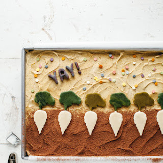 Chocolate Sheet Cake with Pistachio Butter Frosting Recipe