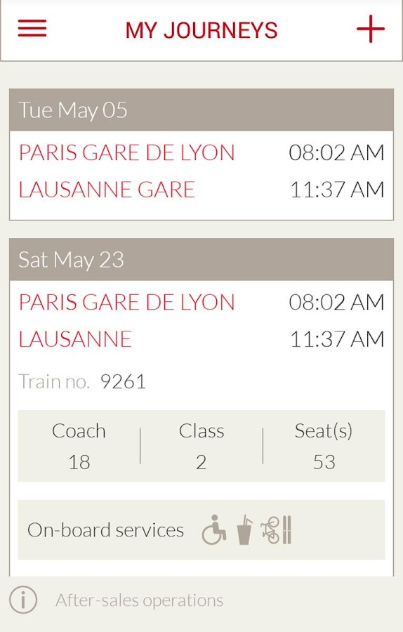 TGV Lyria : trains & schedules- screenshot