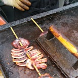 large grilled squids are delicious in Toronto, Ontario, Canada