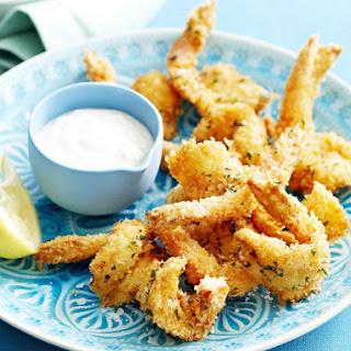 Crispy Parmesan Herb Shrimp