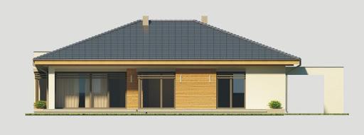 Alabama wersja C z pojedynczym garażem - Elewacja tylna