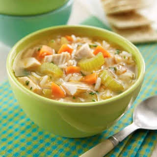 Slow Cooker Chicken-Rice Soup.