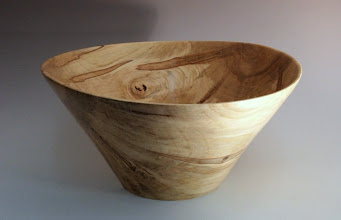 "Photo: Tim Aley - Bowl - 12"" x 6"" - ambrosia maple"