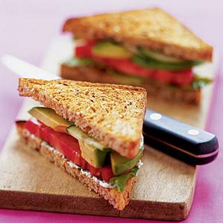 ALT (Avocado, Lettuce, and Tomato) Sandwiches.