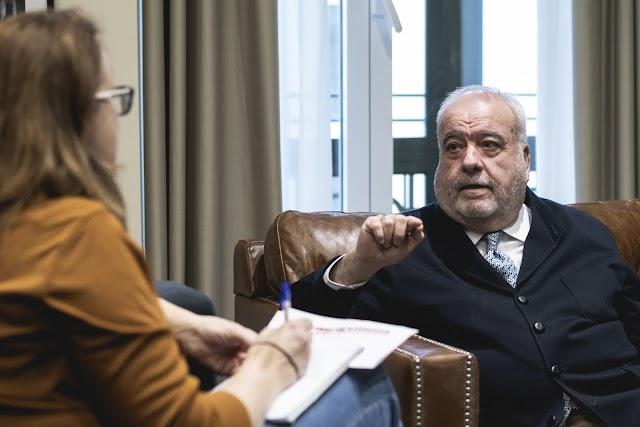 Giménez-Alemán, en un momento de la entrevista