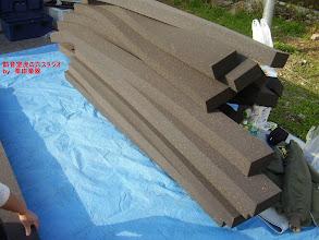 Photo: 外のブースと内側のブースの間に入れるスポンジ