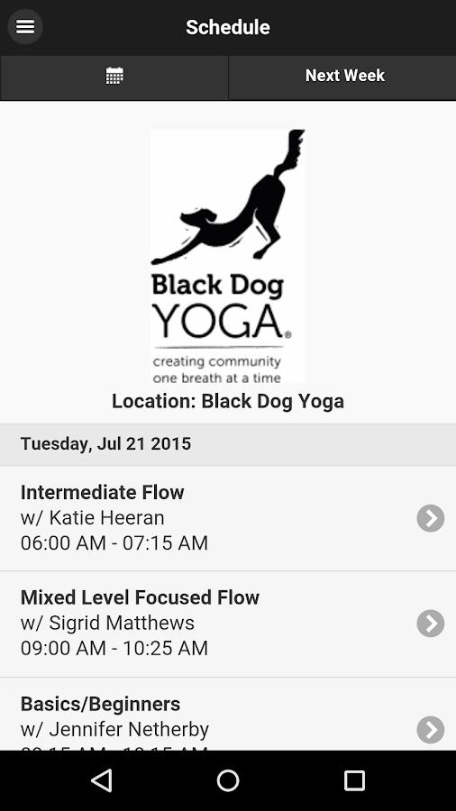 Black Dog Yoga- screenshot