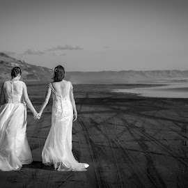 the start of the journey together by Sheena True - Wedding Bride ( love, marriage, beach, wedding, brides )