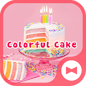 Cute Wallpaper Colorful Cake Theme